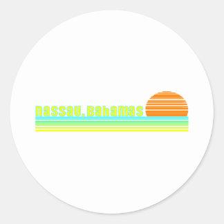 Nassau, Bahamas Round Sticker