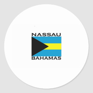 Nassau, Bahamas Round Stickers