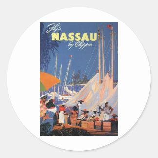Nassau Bahamas Round Stickers