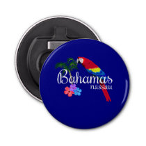Nassau Bahamas Tropical Destination Bottle Opener