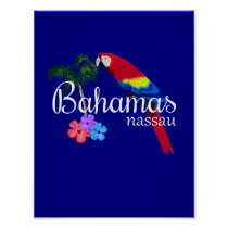 Nassau Bahamas Tropical Destination Poster
