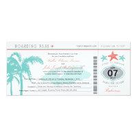 Nassau Bahamas Wedding Boarding Pass 4x9.25 Paper Invitation Card (<em>$2.57</em>)