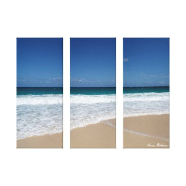 Beach Themed Nassau beach canvas print