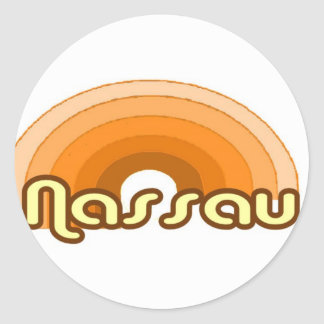 Nassau Classic Round Sticker
