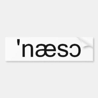 Nassau County Long Island Phonetic Spelling Bumper Sticker