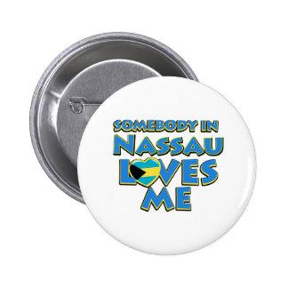 Nassau Flag City Designs 2 Inch Round Button