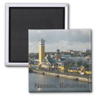 Nassau harbor 2 inch square magnet