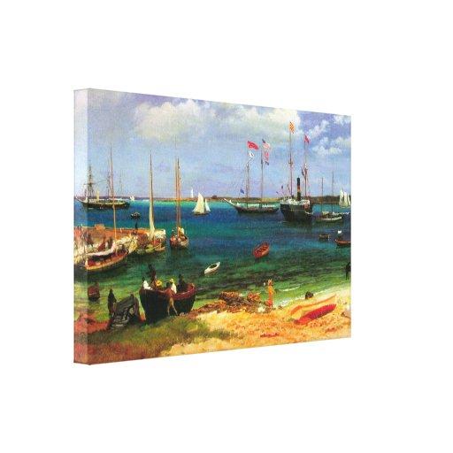 Nassau Harbor by Albert Bierstadt Canvas Prints