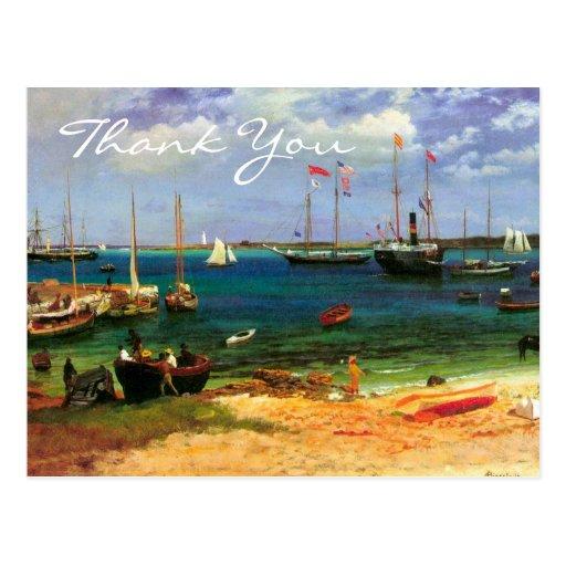 Nassau Harbor by Albert Bierstadt Postcard