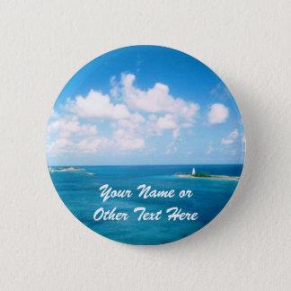 Nassau Harbor Custom Name Badge Button