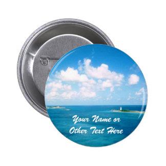 Nassau Harbor Custom Name Badge 2 Inch Round Button