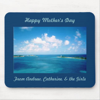 Nassau Harbor Cutom Mother's Day Mousepad