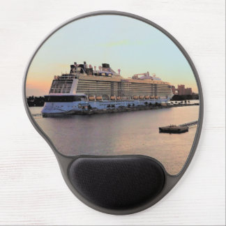Nassau Harbor Daybreak with Cruise Ship Gel Mouse Pad