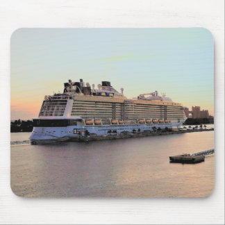 Nassau Harbor Daybreak with Cruise Ship Mouse Pad