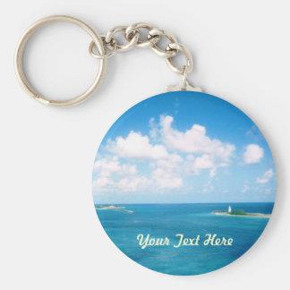 Nassau Harbor Personalized Keychain