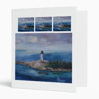 Nassau Harbour Lighthouse 3 Ring Binders