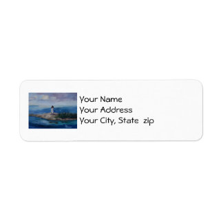 Nassau Harbour Lighthouse Custom Return Address Label