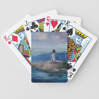 Nassau Harbour Lighthouse Bicycle Poker Cards
