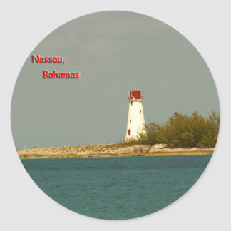 Nassau Lighthouse Classic Round Sticker
