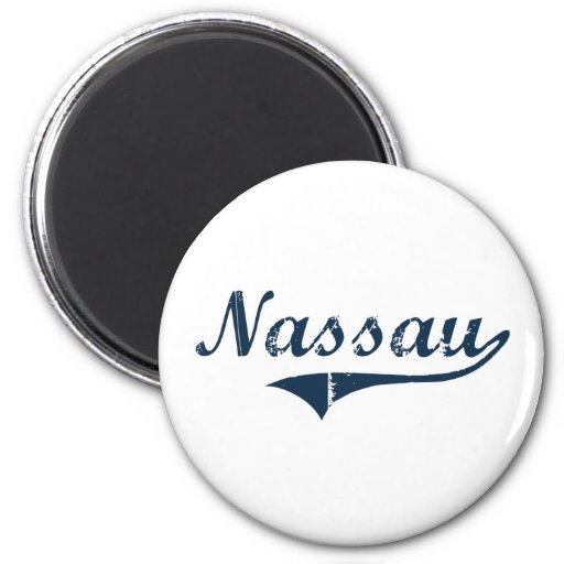 Nassau New York Classic Design Fridge Magnet