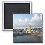 Nassau port 2 inch square magnet