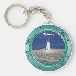 Nassau Porthole Basic Round Button Keychain