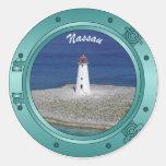 Nassau Porthole Classic Round Sticker