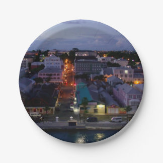 Nassau se despierta plato de papel 17,78 cm
