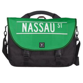 Nassau St., New York Street Sign Laptop Commuter Bag