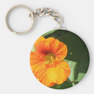 Nasturtium Blossom Keychain