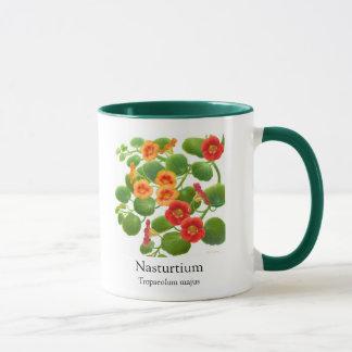 Nasturtium Botanical Art Mug