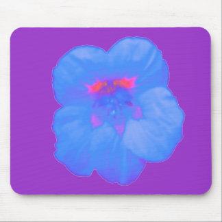 Nasturtium Bright Blue Mousepad