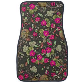 Nasturtium Floral Flowers Blossoms Floor Mats