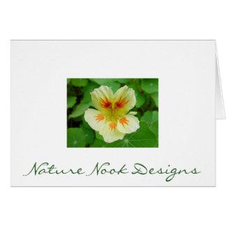 Nasturtium Flower Stationery Note Card