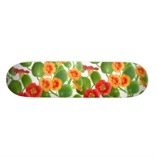 Nasturtium Flower Vines Skateboard