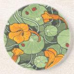 Nasturtium & Ladybird Drink Coasters