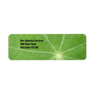 Nasturtium Leaf Custom Address Label