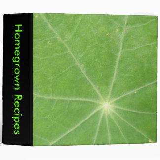 Nasturtium Leaf Custom Binder