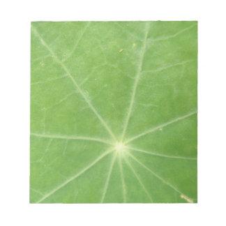 Nasturtium Leaf Notepad