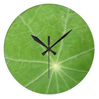 Nasturtium Leaf Wall Clock