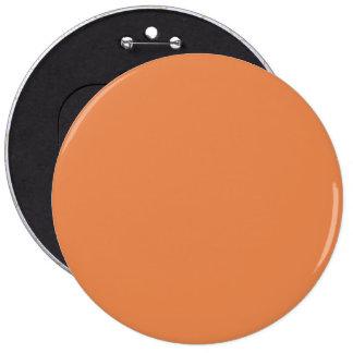 Nasturtium Orange in an English Country Garden 6 Inch Round Button