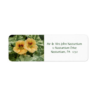 Nasturtium Return Address Label