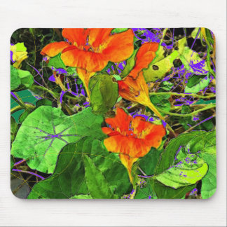 Nasturtiums Garden Gifts by Sharles Art. Mouse Pad