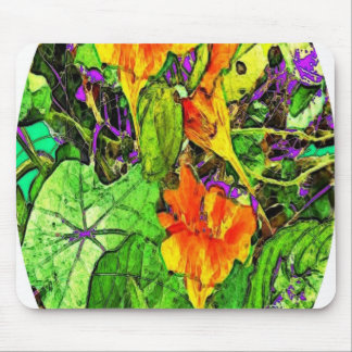 Nasturtiums Garden Oval Gifts by Sharles Mouse Pad