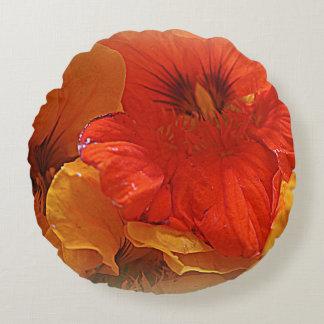 Nasturtiums Round Pillow