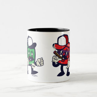 Nasty dices Two-Tone coffee mug