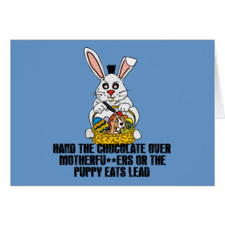 Nasty Easter bunny Card