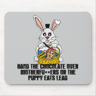 Nasty Easter bunny Mouse Pad