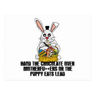 Nasty Easter bunny Postcard