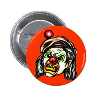 Nasty Evil Clown 2 Inch Round Button